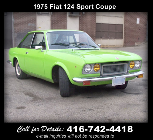 1975 Fiat 124 Sport Coupe - For Sale